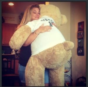 holly hugs bear sept 2013